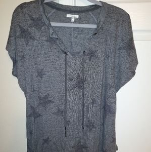 Maurice's large grey t shirt with stars